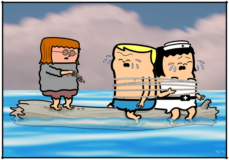 Meanwhile, On A Log In The Sea…